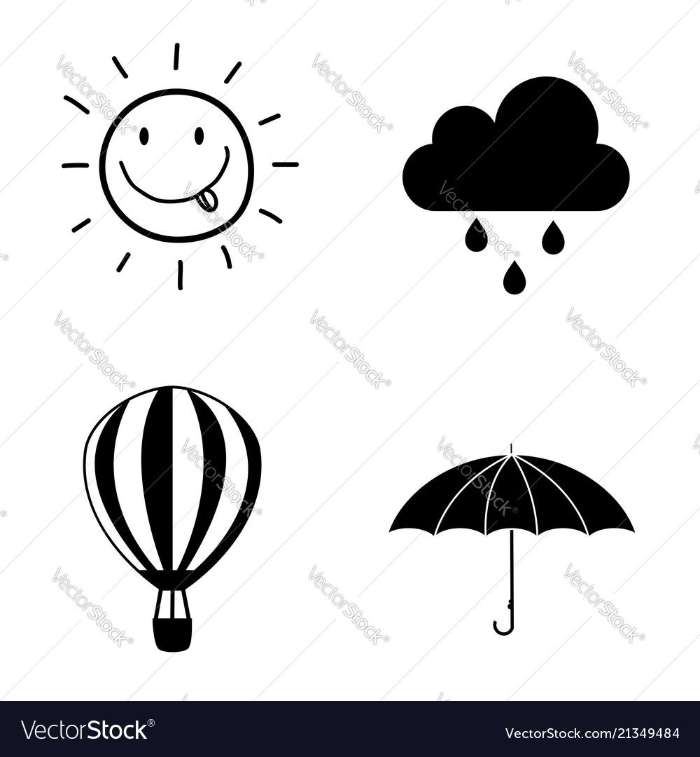 Seasons weather icon set collection