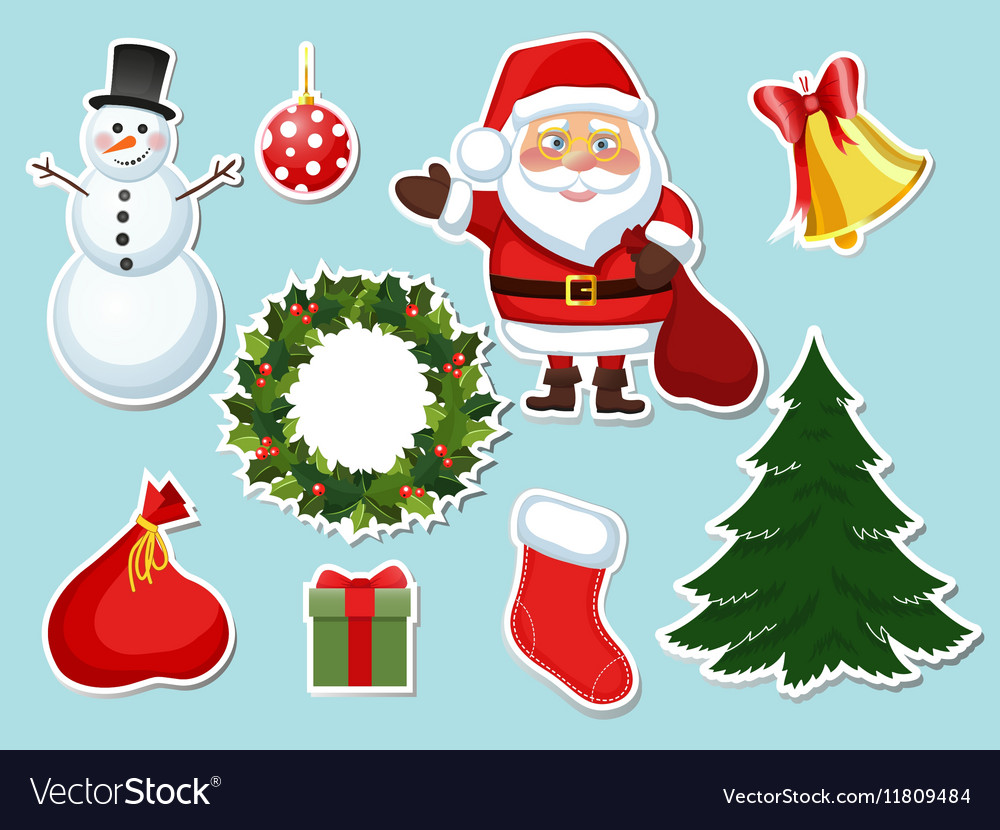Sticker Christmas set