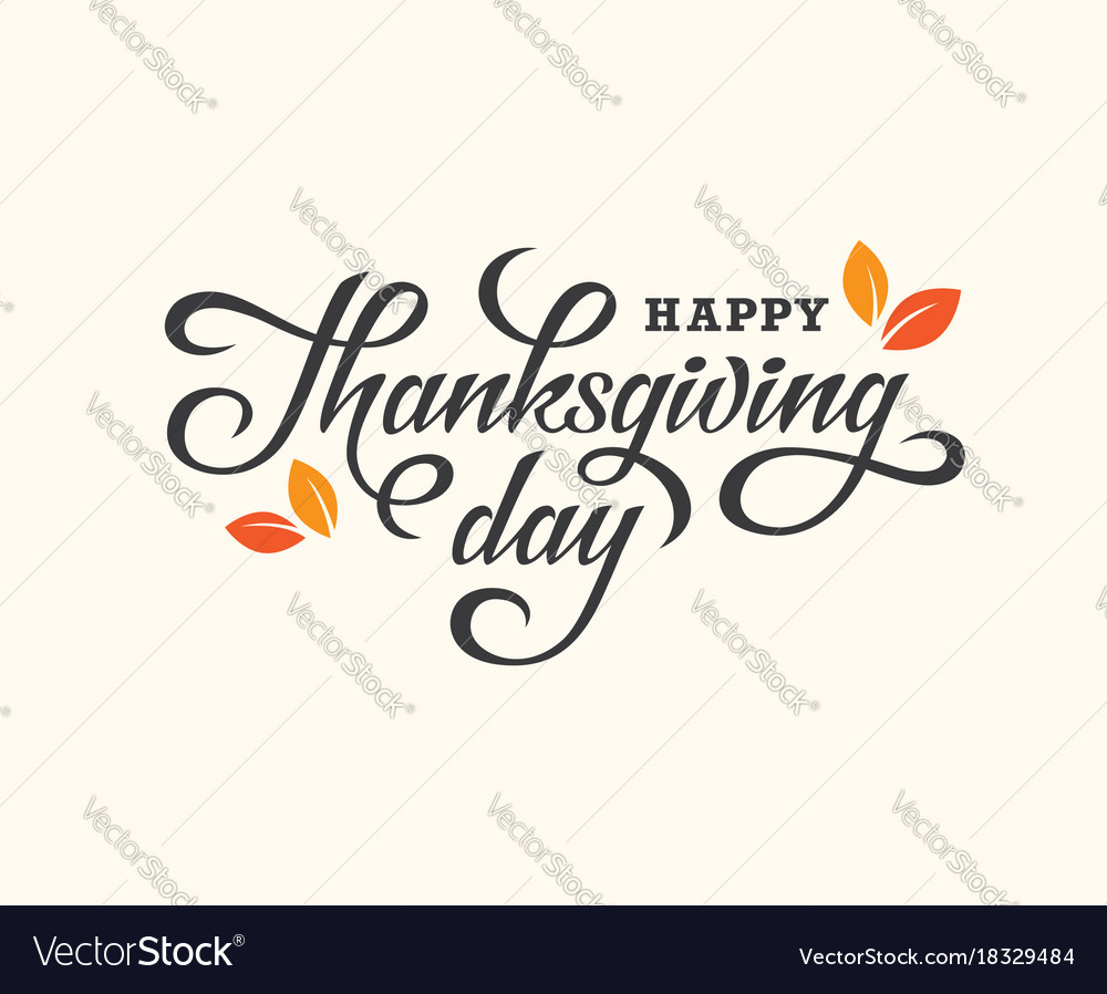 Thanksgiving day lettering card
