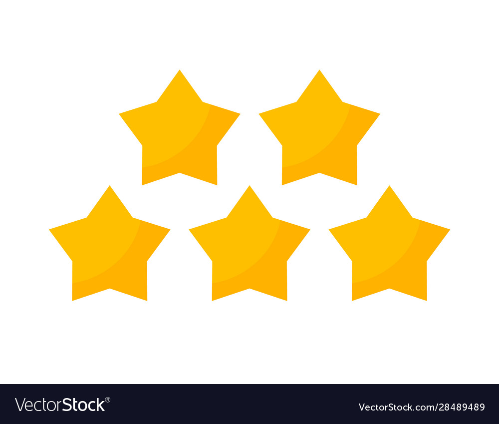 5 star review yellow icon five stars gold