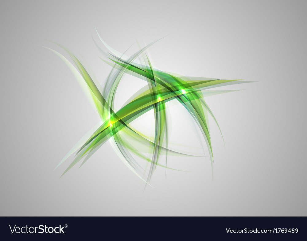 Abstract shapes on grey only green vector image