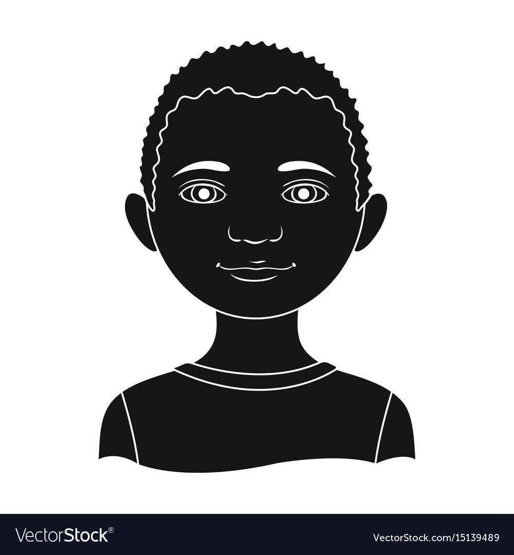 Africanhuman race single icon in black style vector image