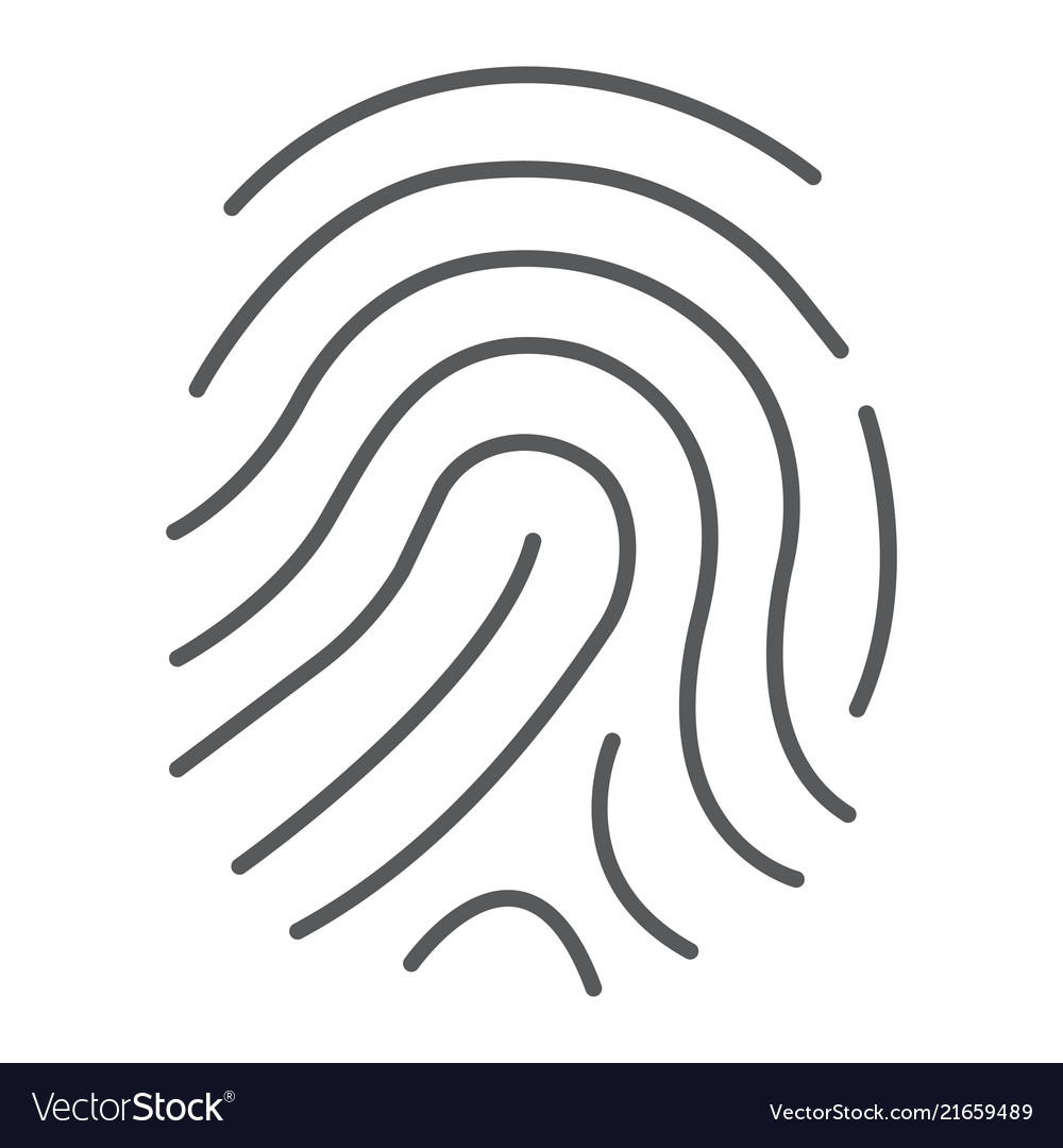 Cryptographic signature thin line icon security