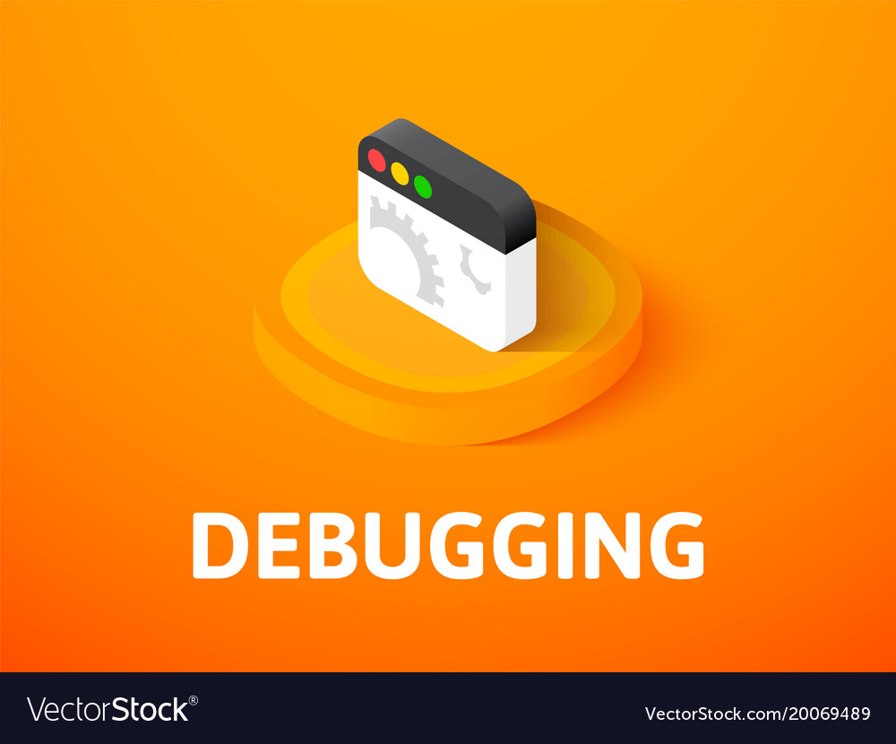 Debugging isometric icon isolated on color vector image