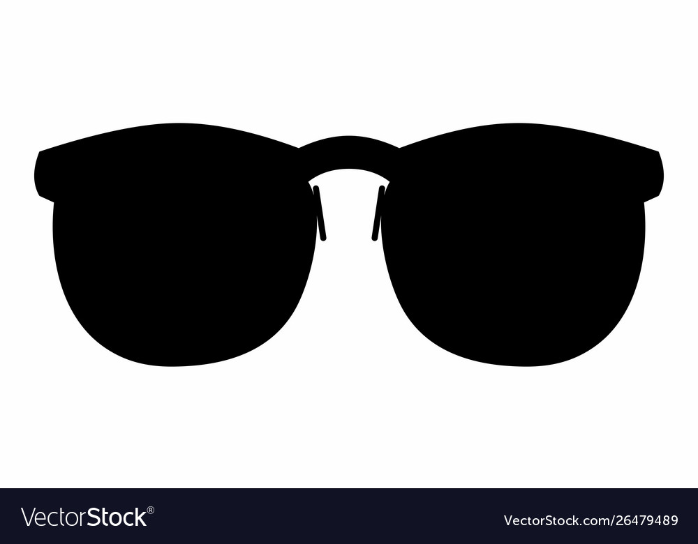 Glasses dark silhouette