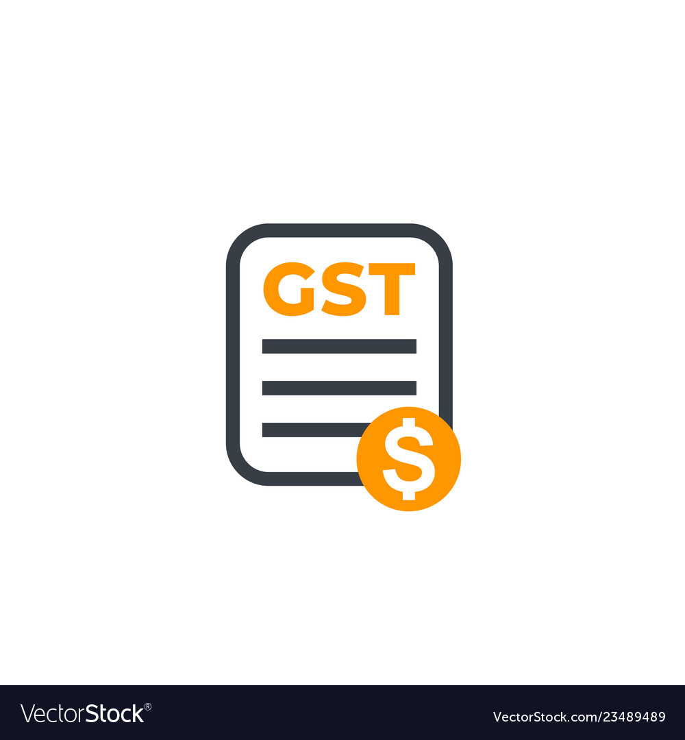 Gst goods and service tax payroll icon on white