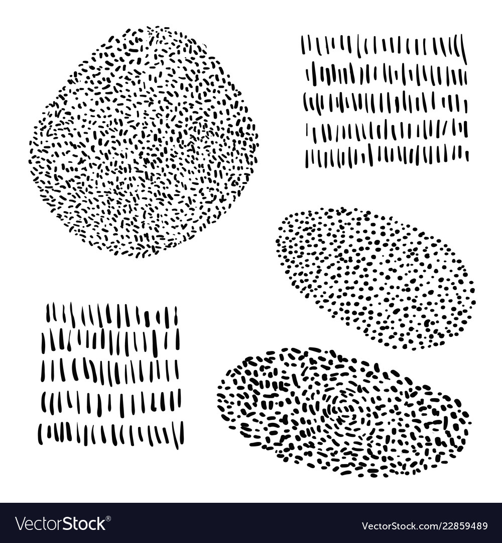Hand Drawn Shapes For Your Card Flyer Royalty Free Vector