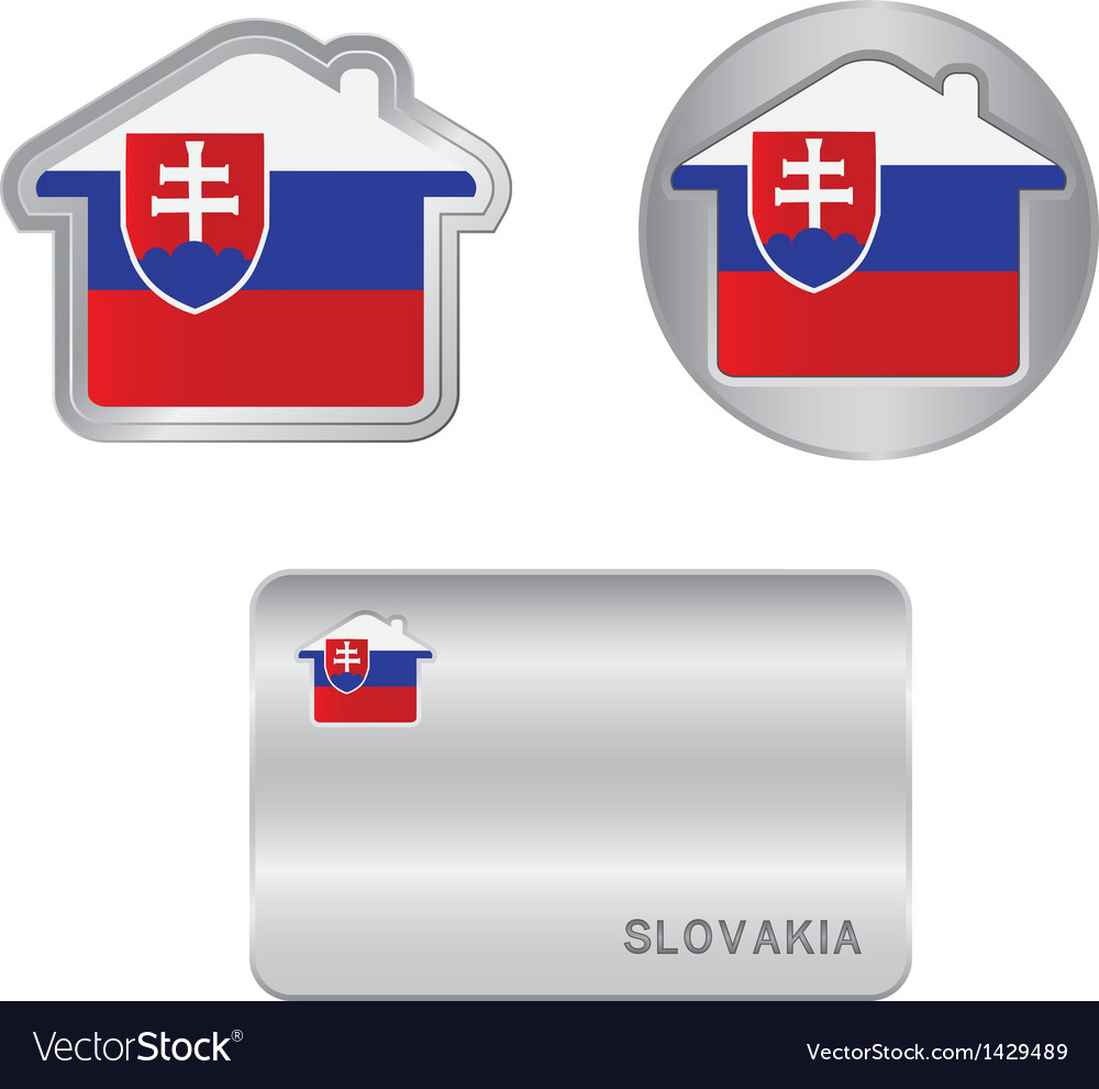 Home icon on the Slovakia flag