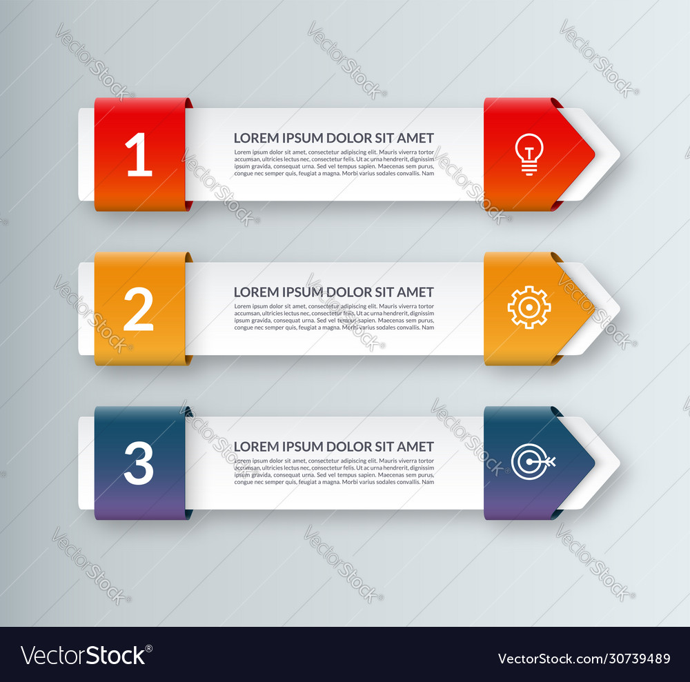 Modern minimal arrow elements for infographics