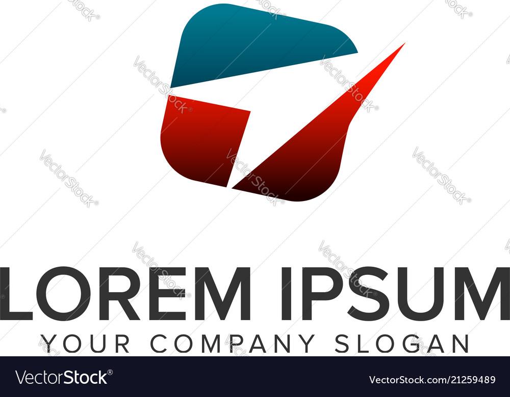 Paper airplane logo travel logo design concept