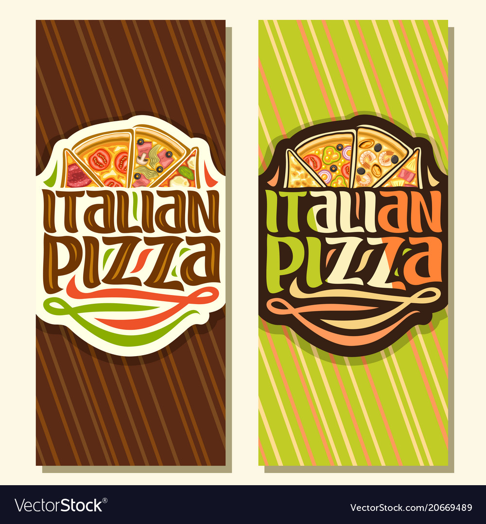 Vertical banners for italian pizza