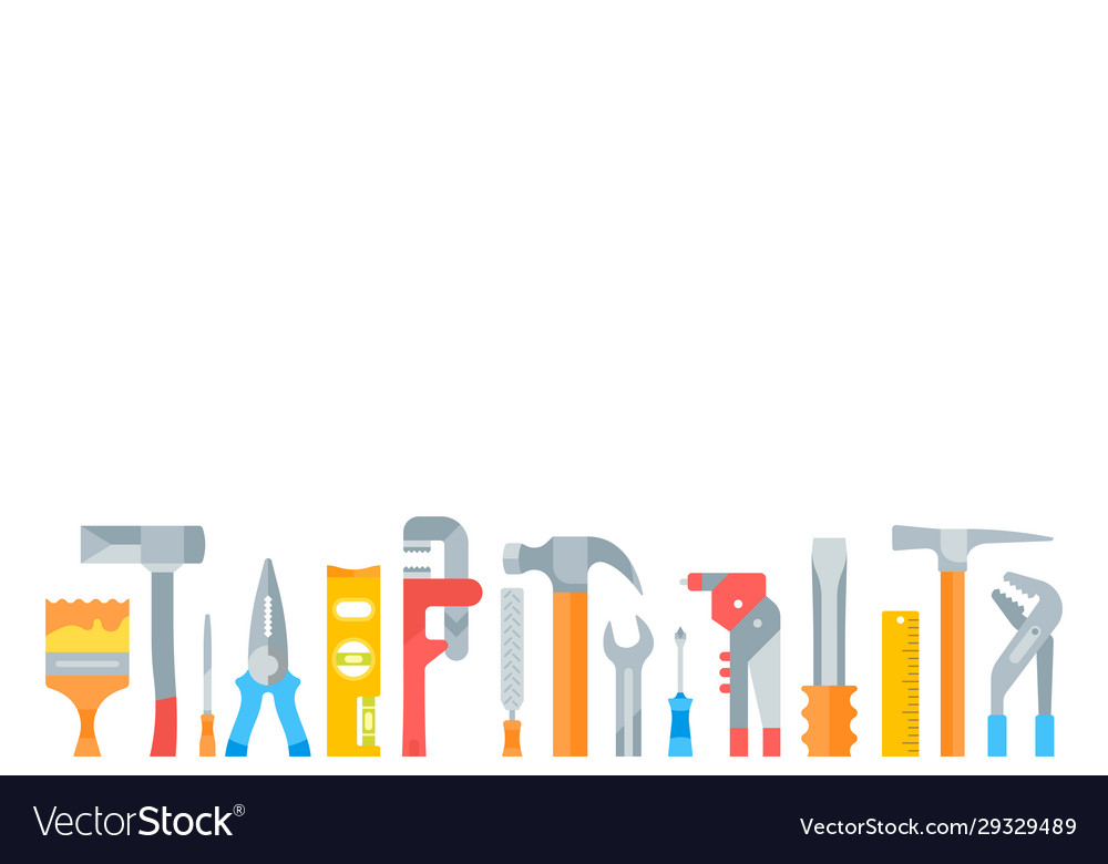 website banner building tools royalty free vector image  vectorstock