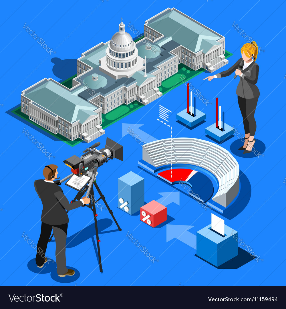 Election Infographic Presidential Isometric