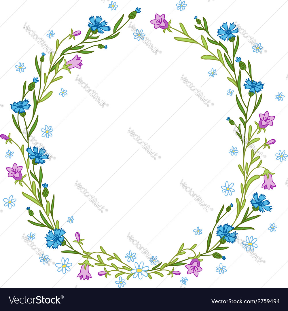Floral wreath composition