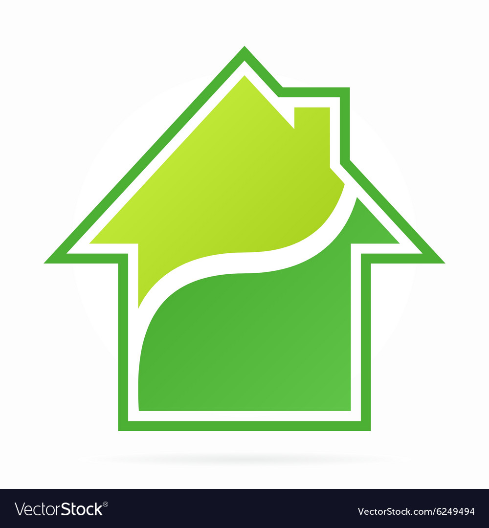 House and real estate logo vector image