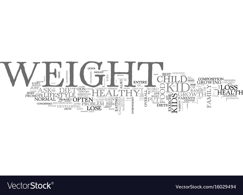 Is it ok to put my kid on a diet text background vector image