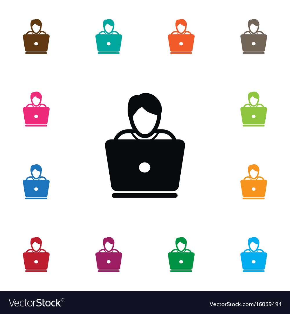 Isolated notebook icon hacker element can vector image