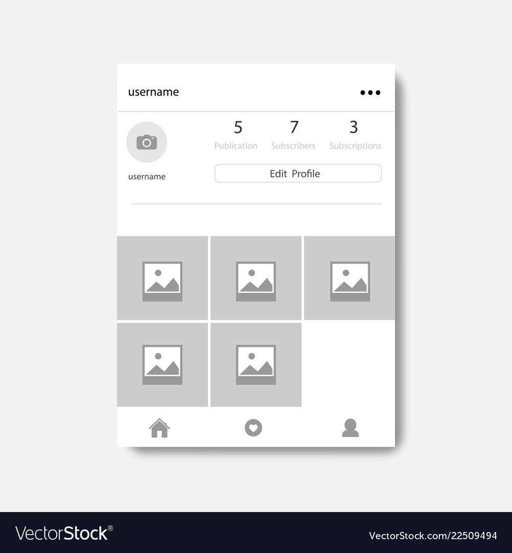 Social network photo frame with shadow profile