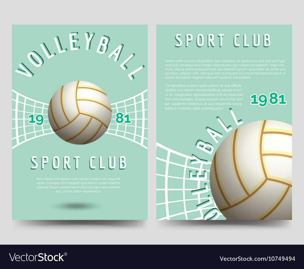 volleyball brochure flyer template royalty free vector image