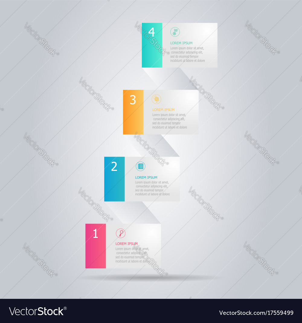 Abstract modern banner infographic vertical