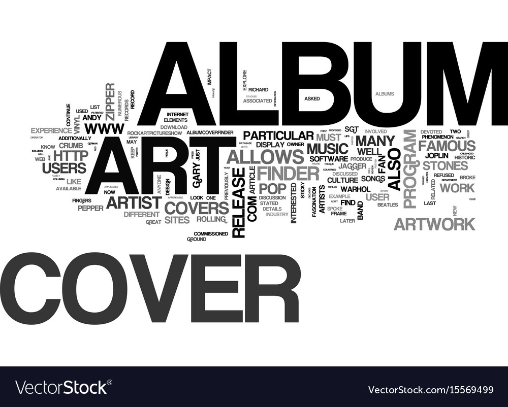 Album Cover Art Part Two Text Word Cloud Concept
