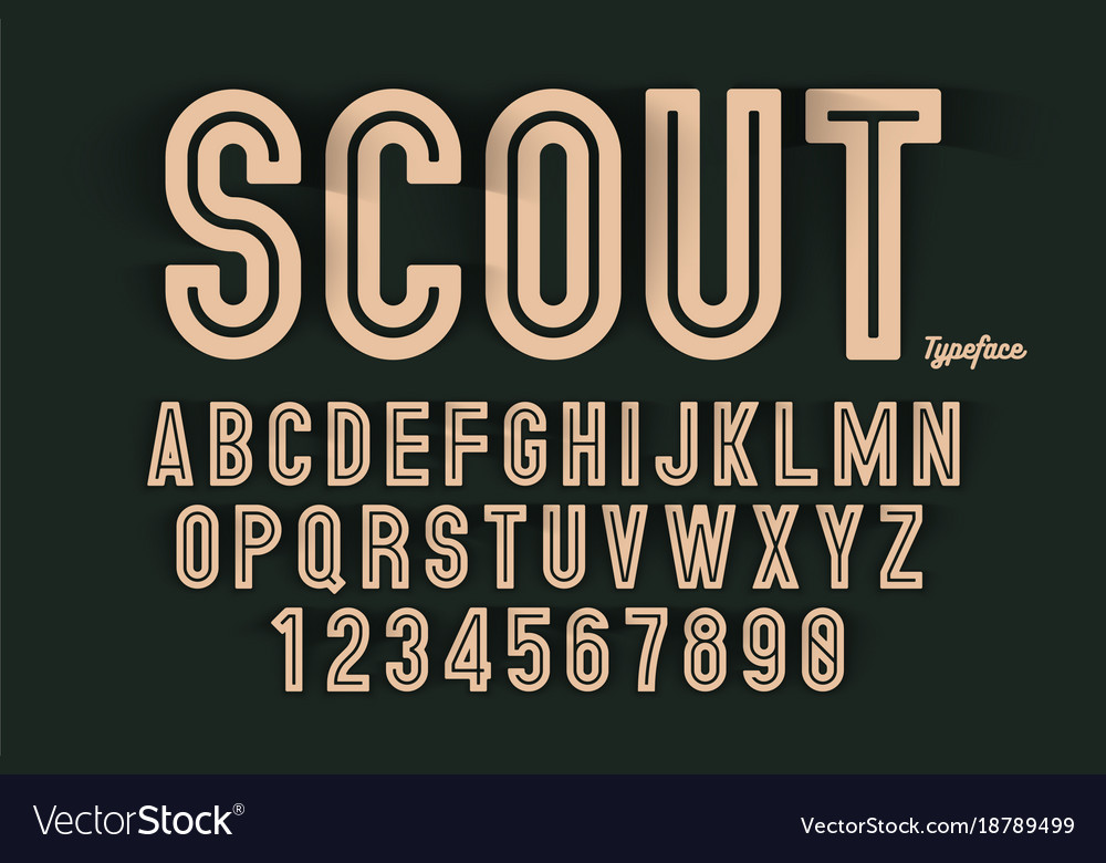 Decorative bold font design alphabet typeface
