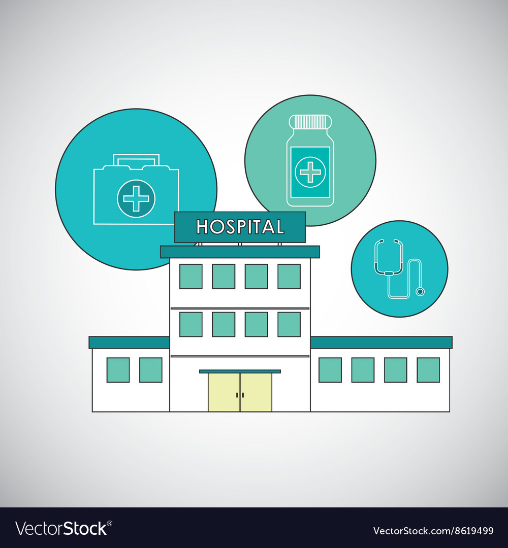 Hospital design Healthy center emergency concept