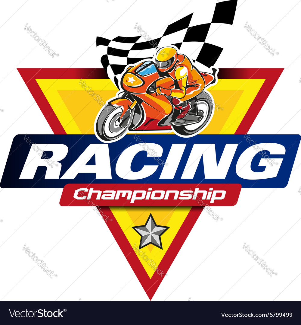 Racing Championship Logo Event Royalty Free Vector Image