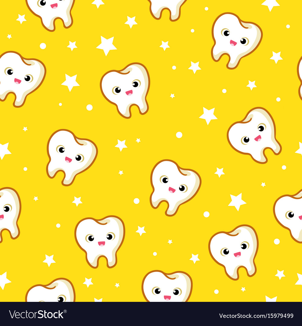Seamless pattern with teeth