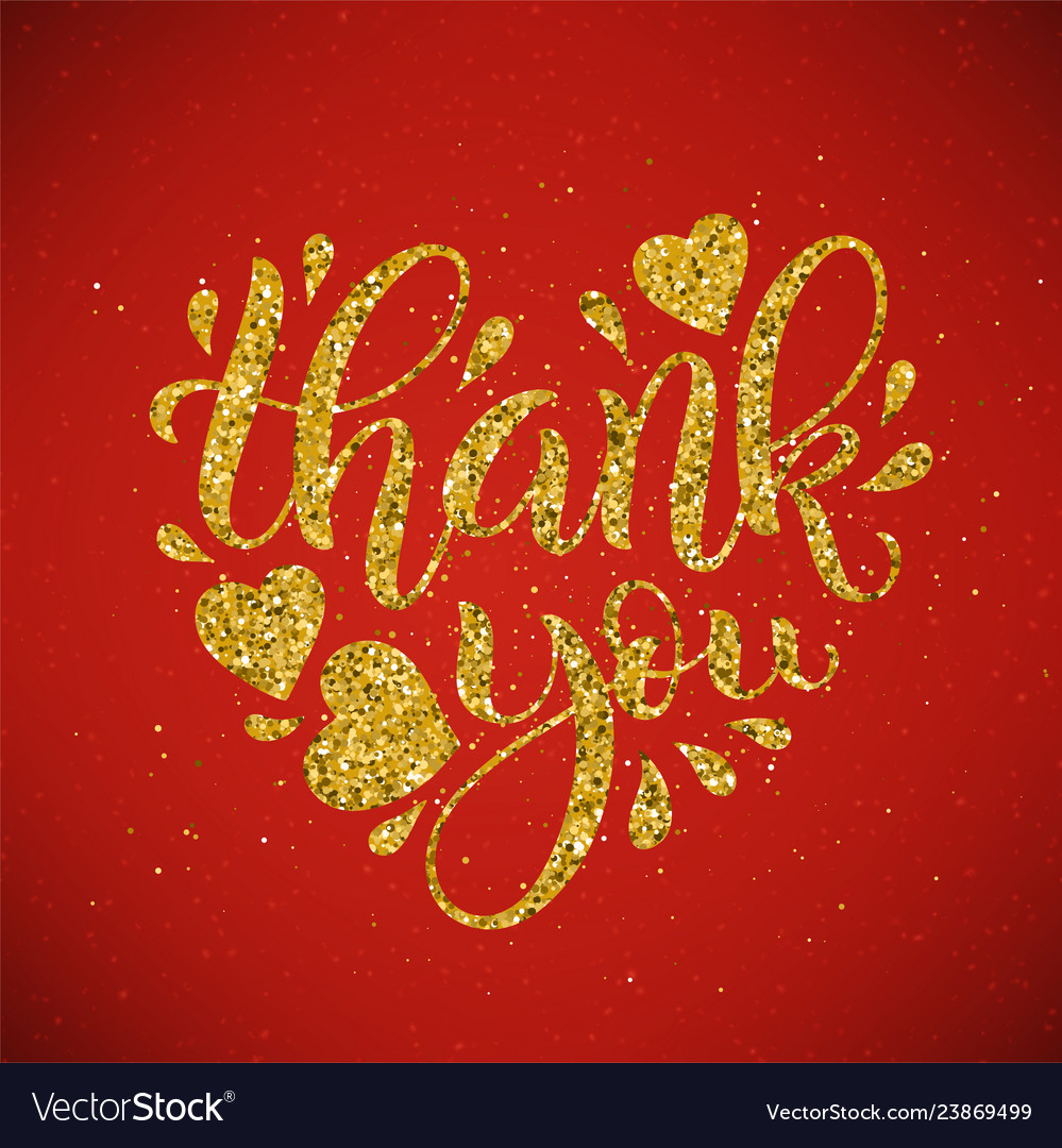 Thank you lettering hand drawn calligraphy
