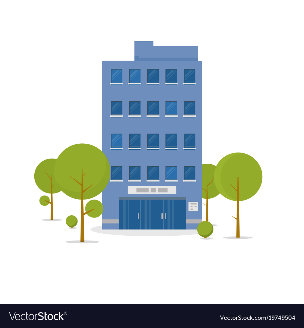 business building royalty free vector image vectorstock rh vectorstock com building vector png building vector icon