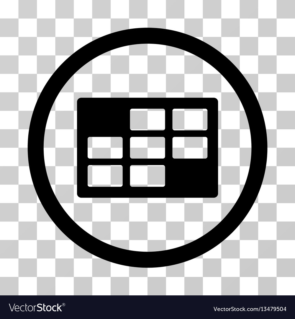 Calendar table rounded icon vector image