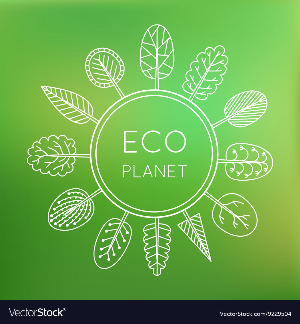 Ecology concept eco planet