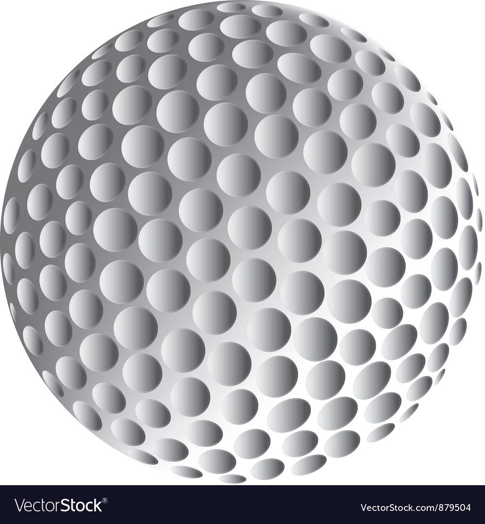 golf ball royalty free vector image vectorstock rh vectorstock com Golf Ball On Tee in Grass Golf Ball On Tee in Grass