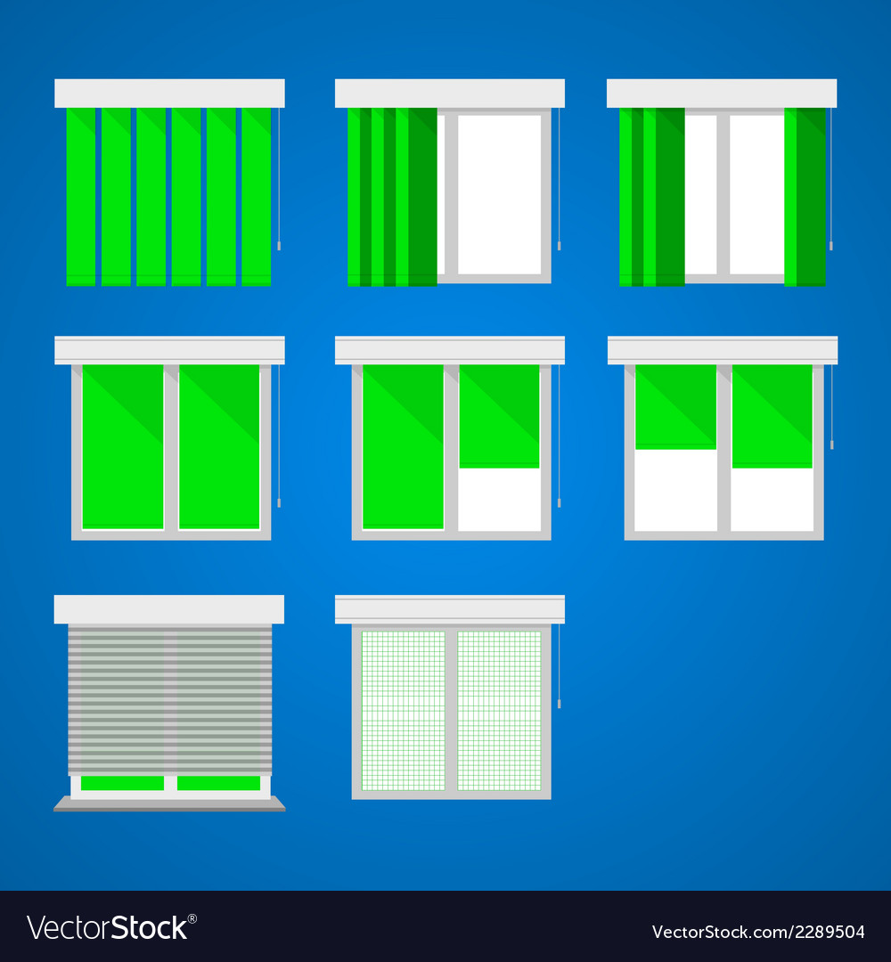 Icons for windows and louvers