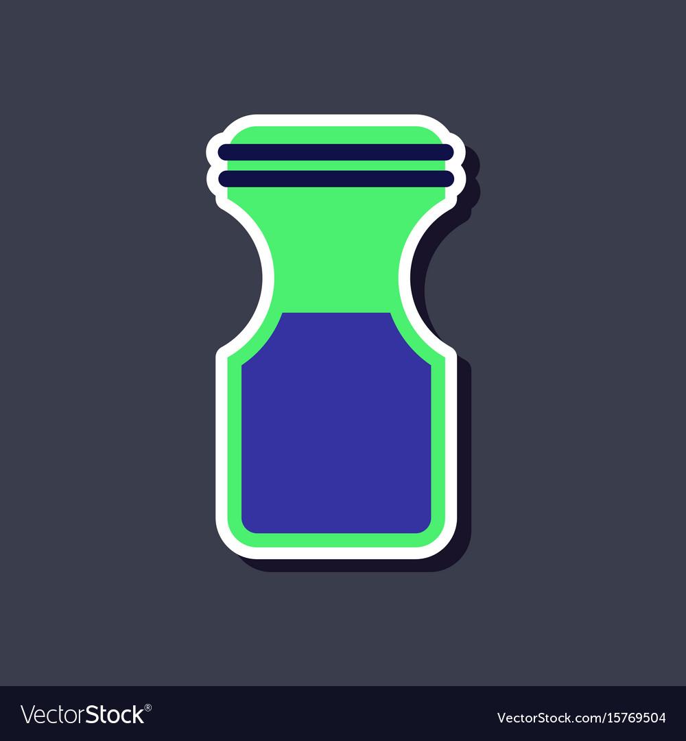 Paper sticker on stylish background coffee jar
