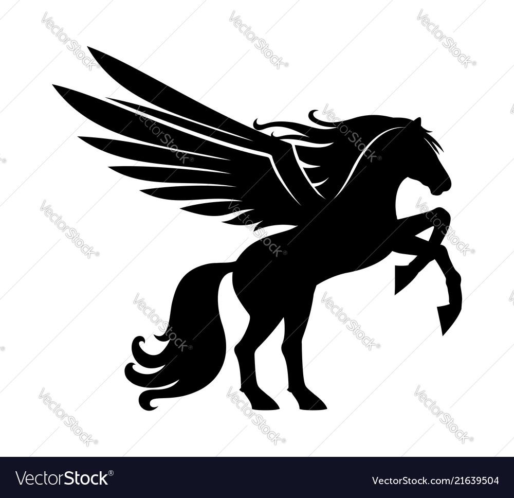 Sign of a black pegasus