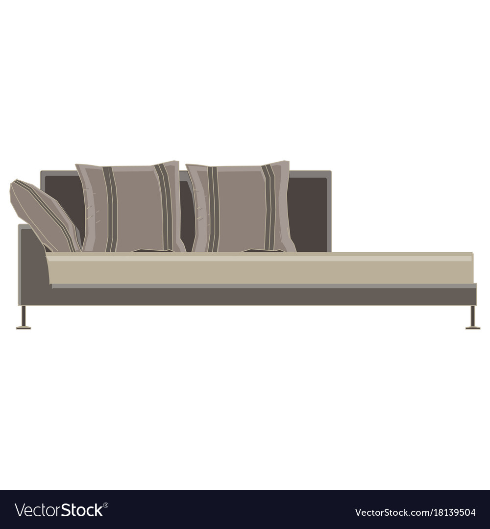 Sofa icon couch furniture design isolated