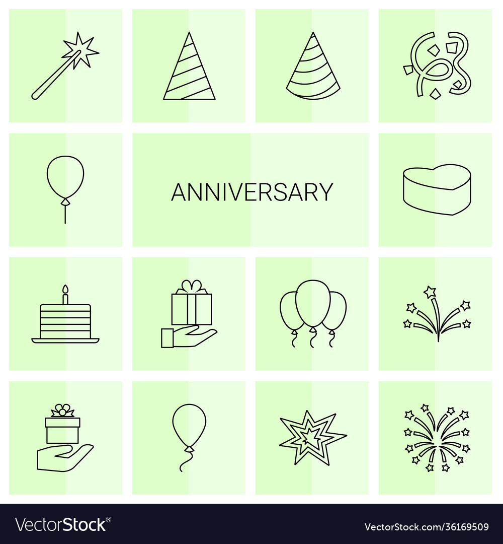 14 anniversary icons