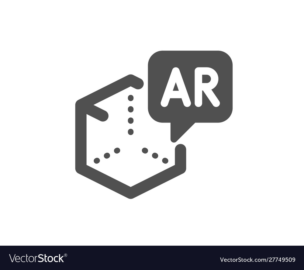 Augmented reality icon vr simulation sign 3d Vector Image