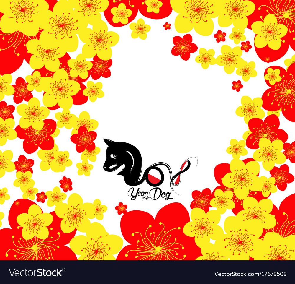 chinese new year template background year of the vector image