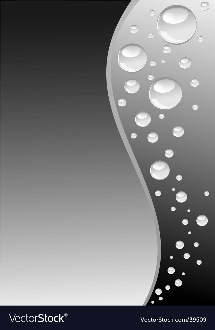 Grey wave with bubbles vertical