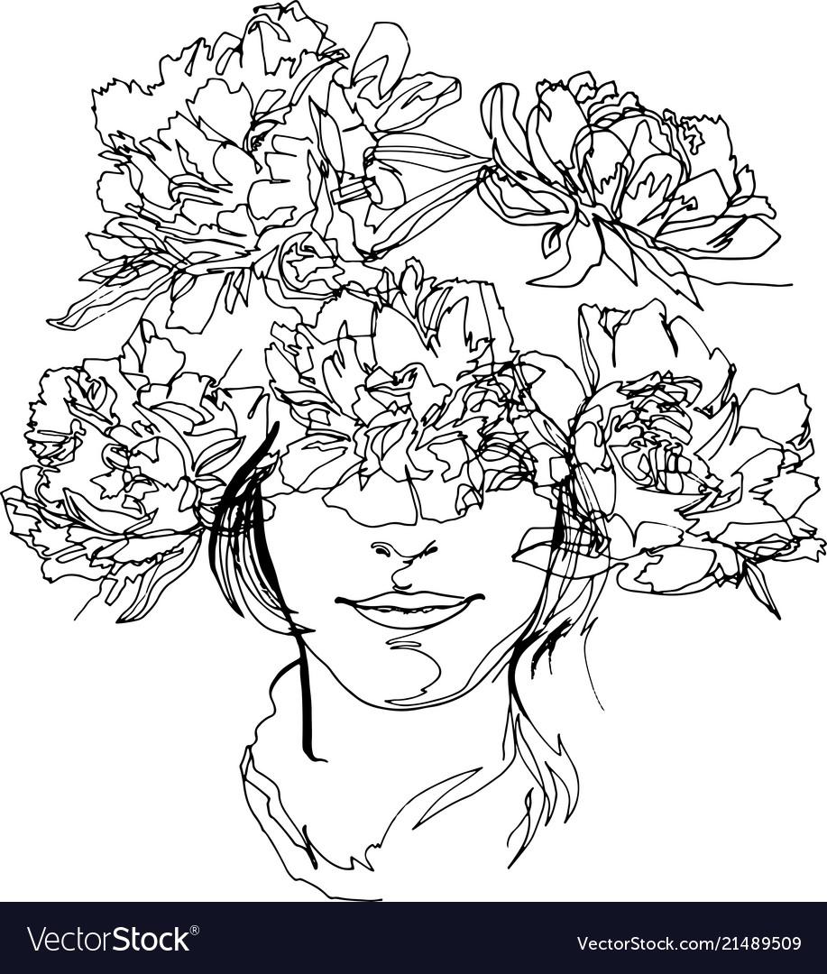 Peony flower close-up minimalist