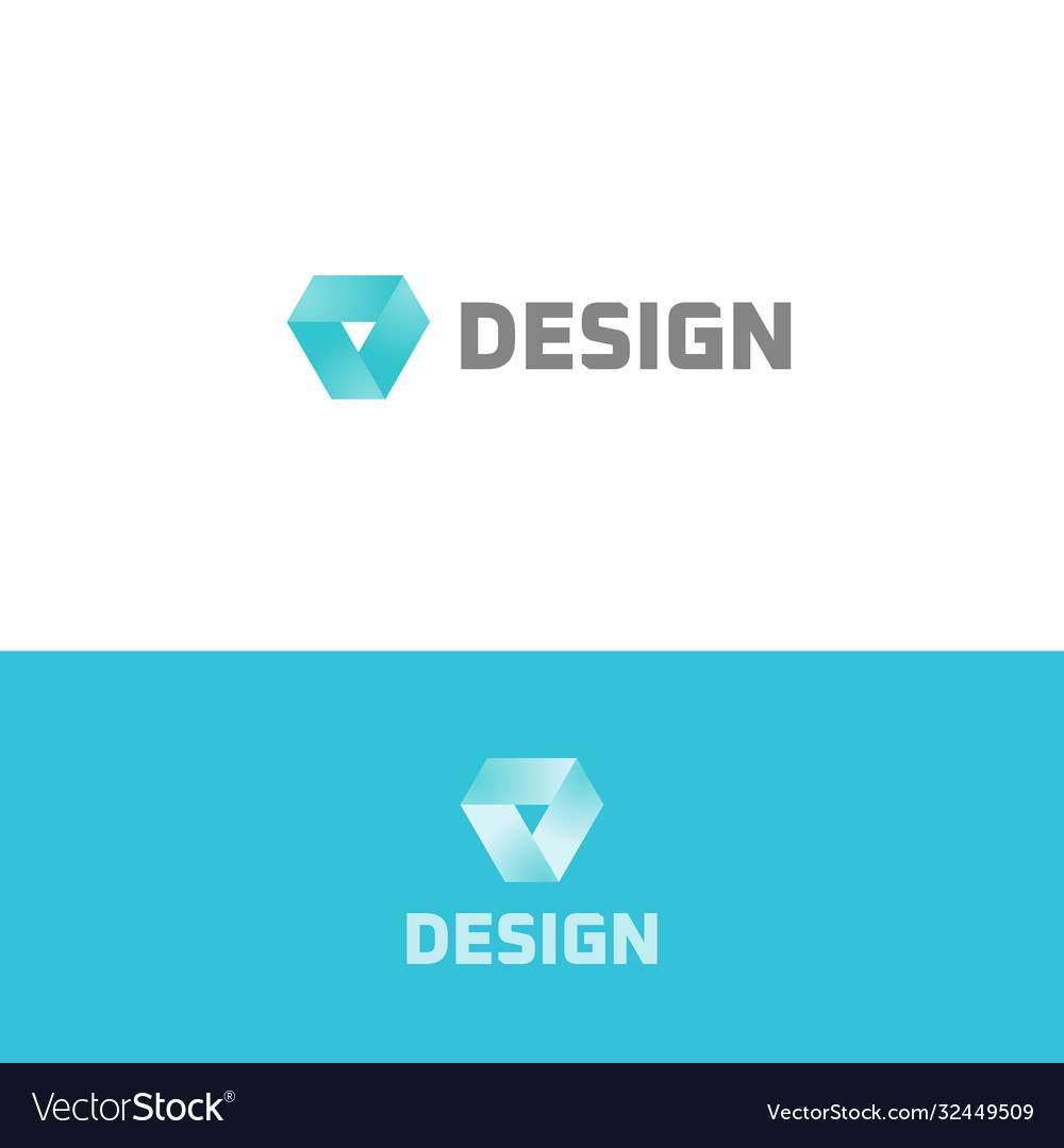 Prism icon design simple flat abstract logo