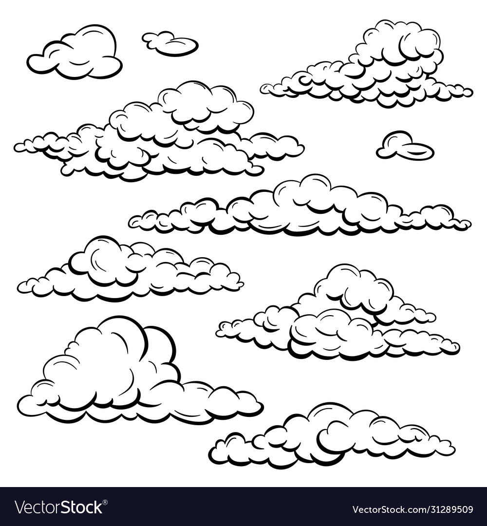 Set sketch clouds