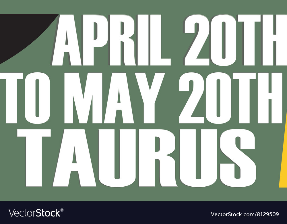 Taurus Dates vector image