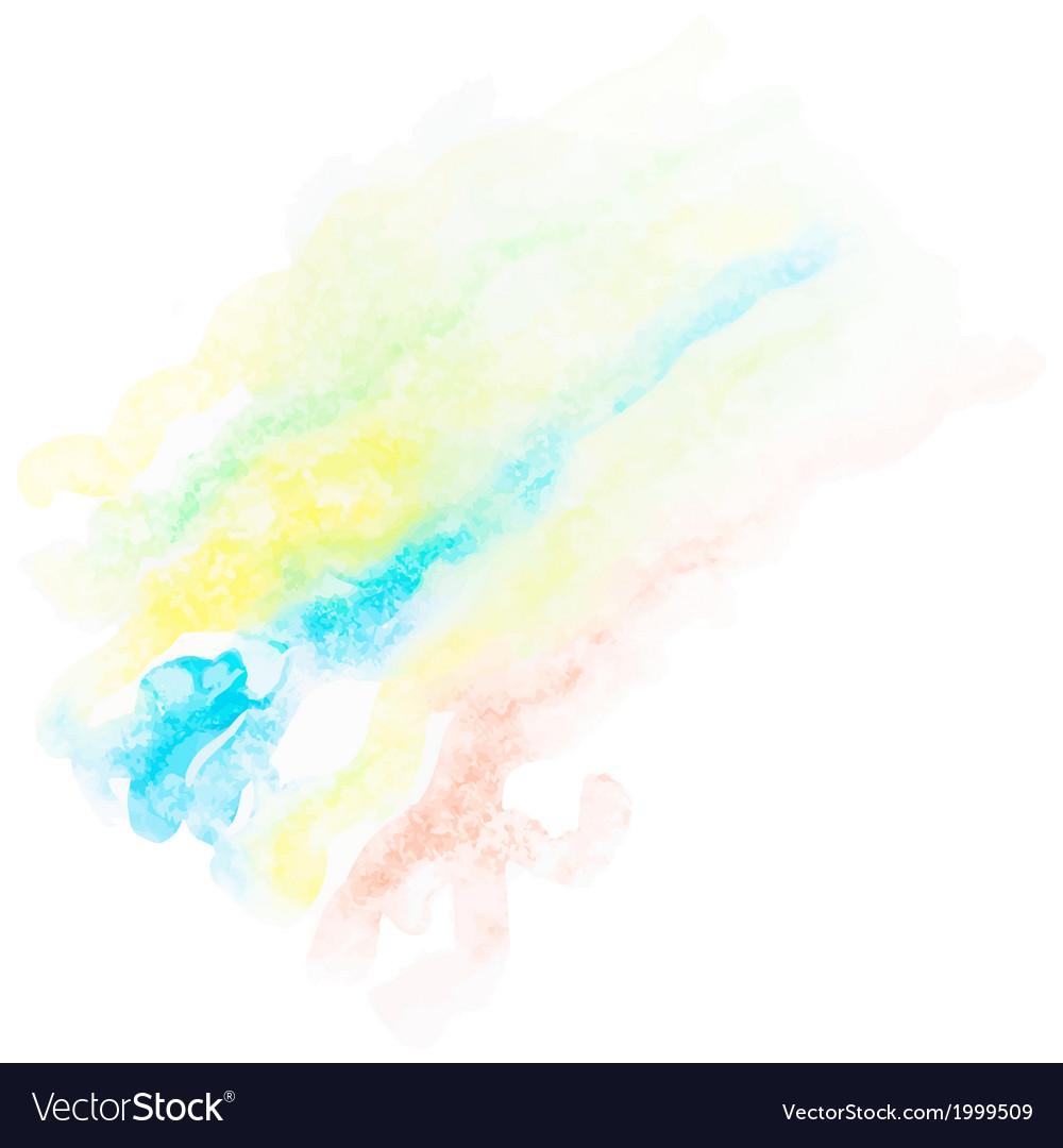 Watercolor art hand paint EPS10