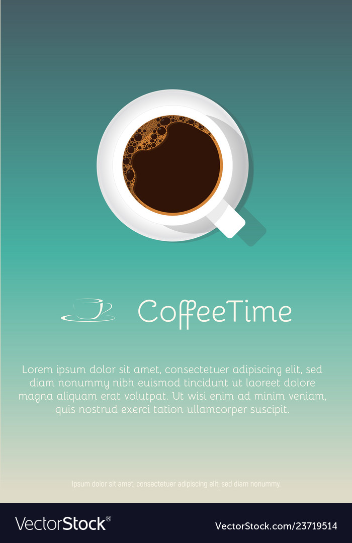 Coffee cup poster