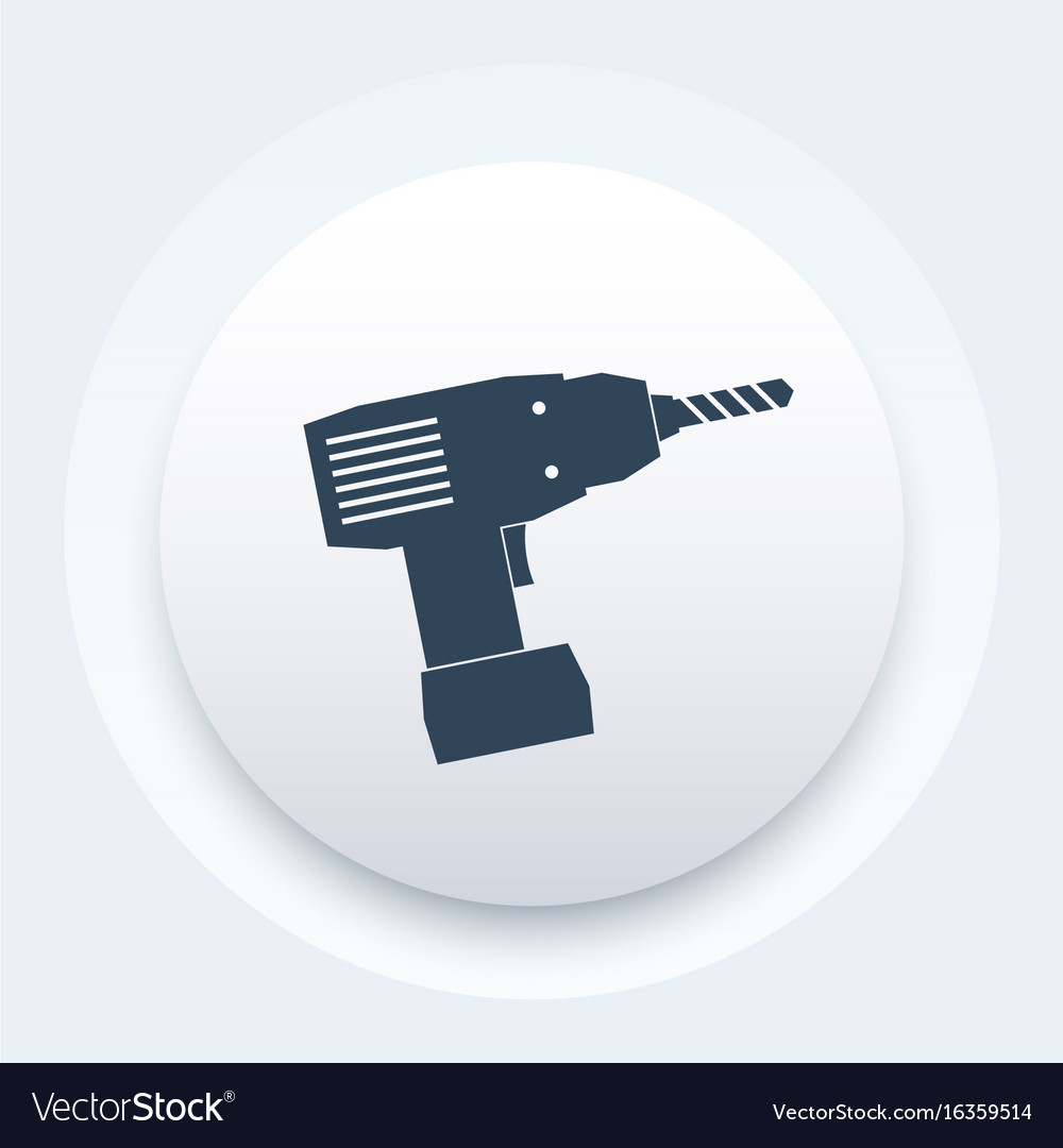 Electric screwdriver icon sign