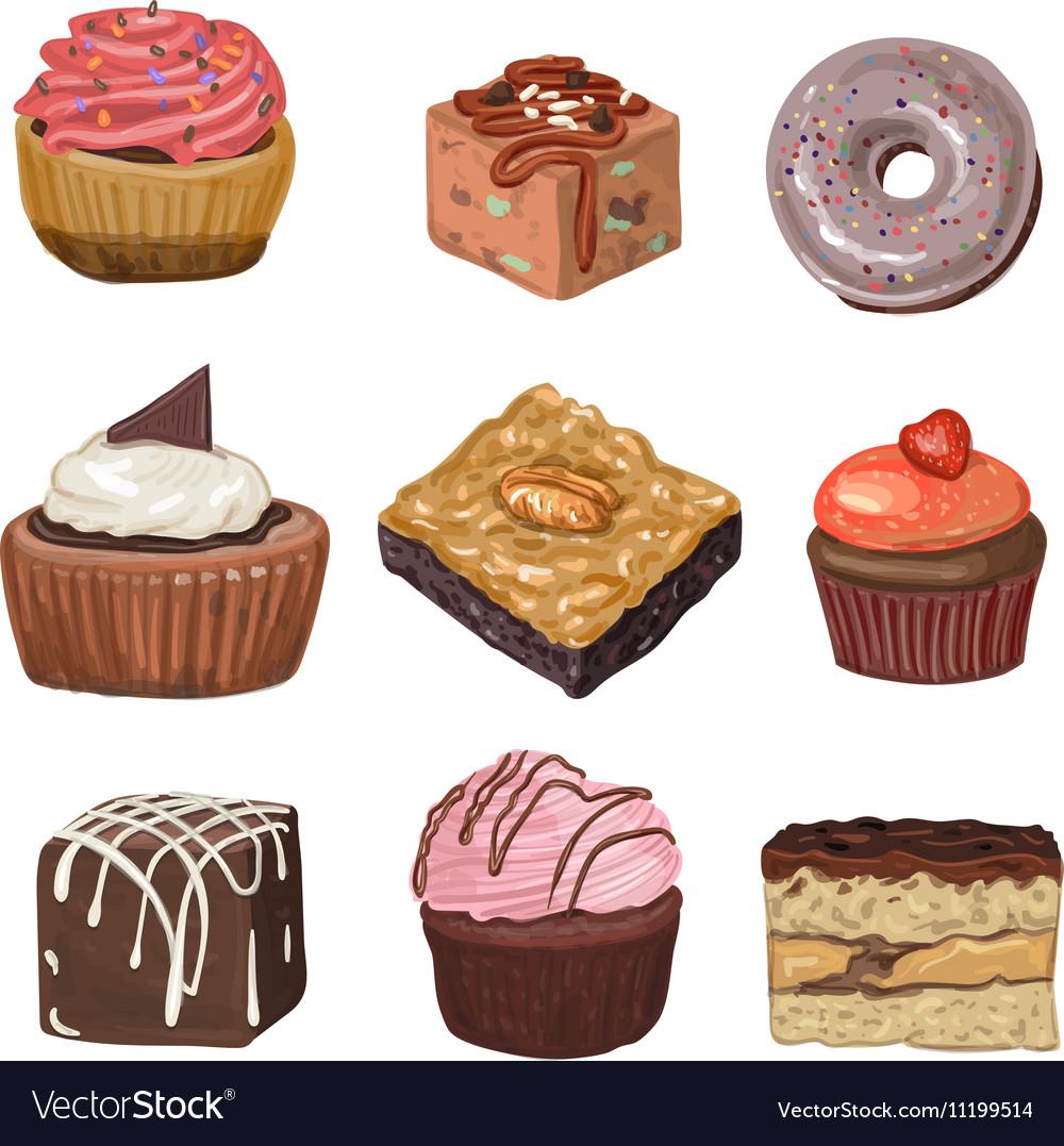 Hand drawn cakes